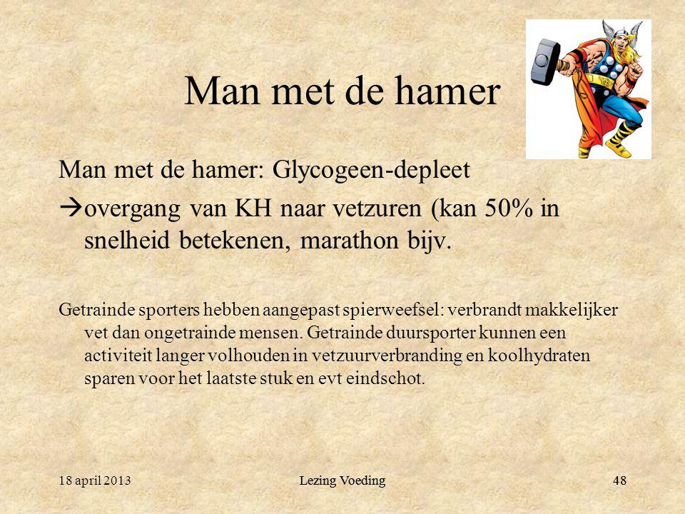 Man met de hamer Man met de hamer: Glycogeen-depleet