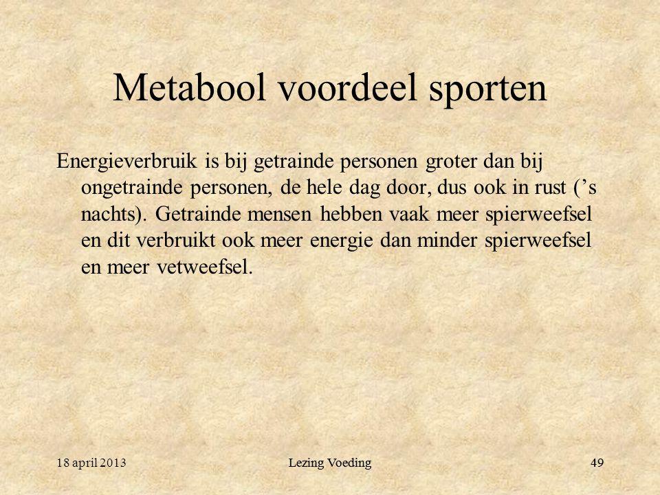 Metabool voordeel sporten