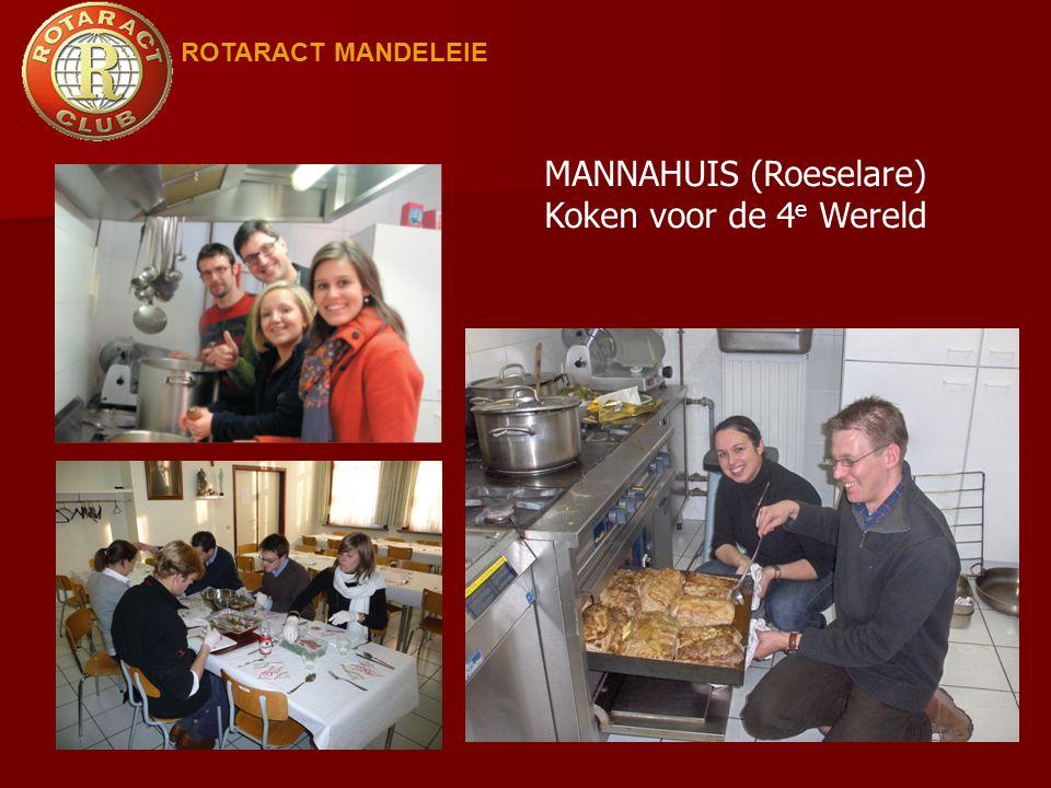 MANNAHUIS (Roeselare) Koken voor de 4e Wereld