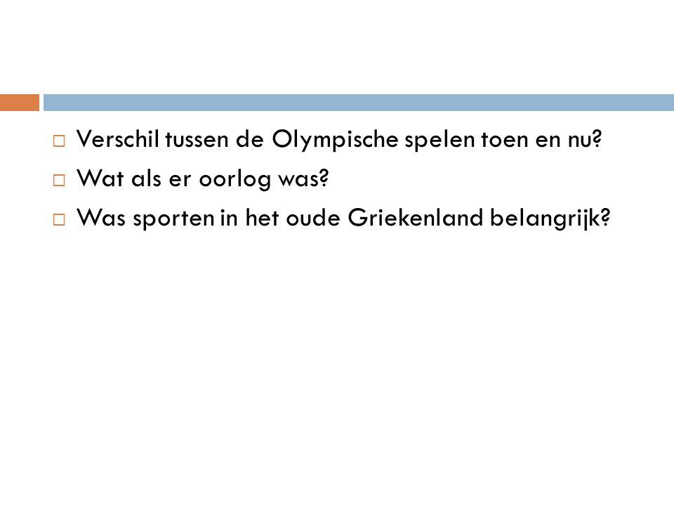 Verschil tussen de Olympische spelen toen en nu