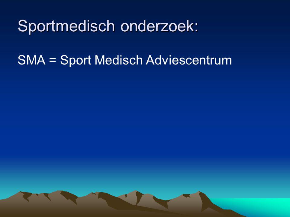 Sportmedisch onderzoek: