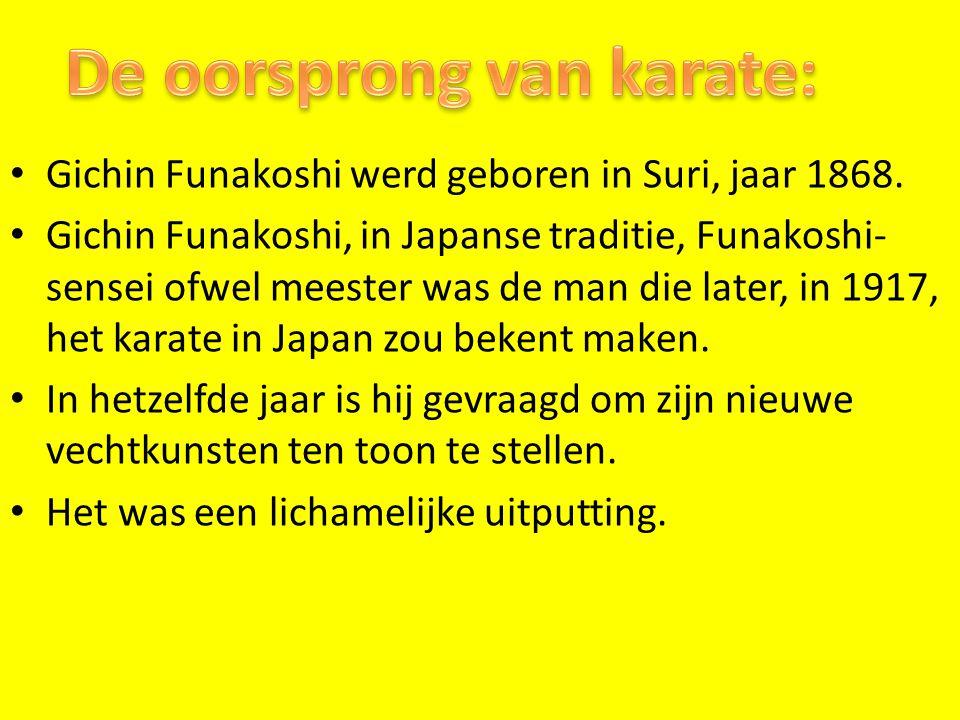 De oorsprong van karate: