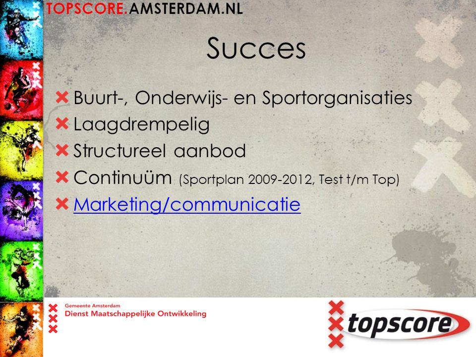 Succes Buurt-, Onderwijs- en Sportorganisaties Laagdrempelig