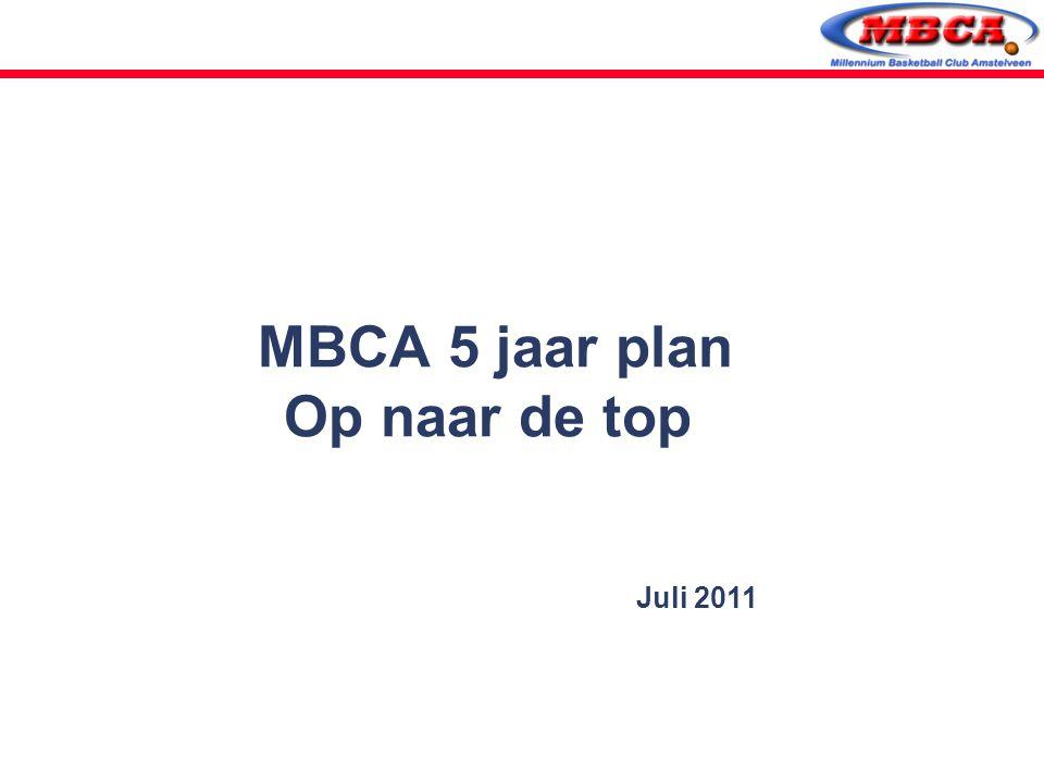 MBCA 5 jaar plan Op naar de top