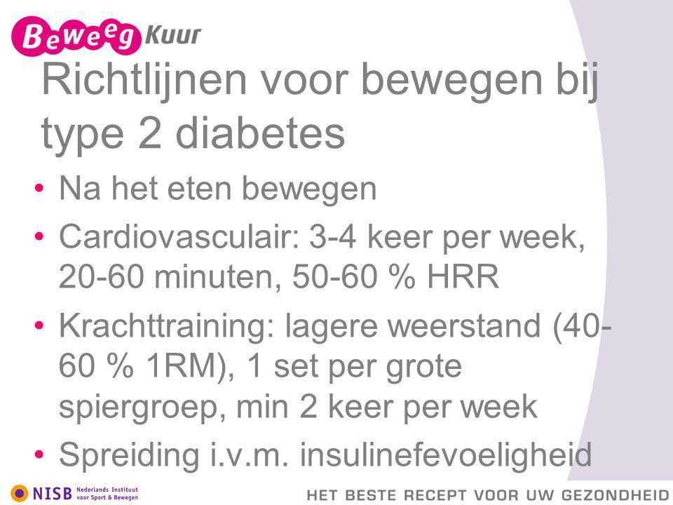 Richtlijnen voor bewegen bij type 2 diabetes