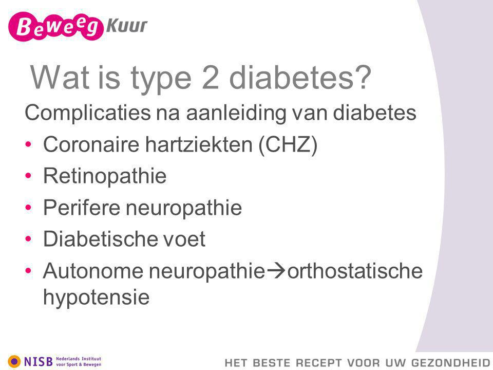 Wat is type 2 diabetes Complicaties na aanleiding van diabetes