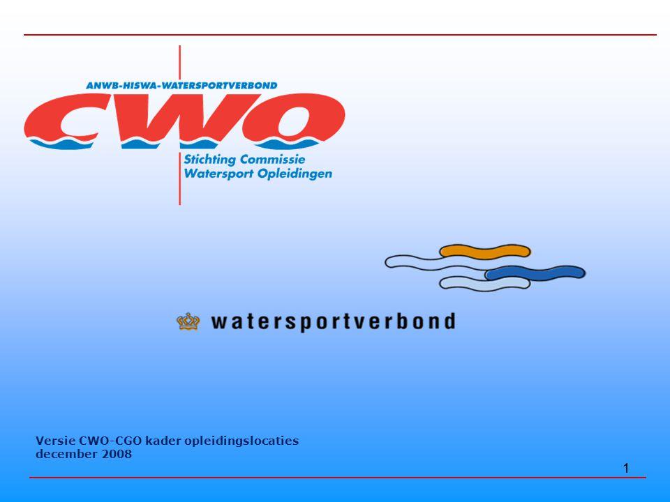 1 Versie CWO-CGO kader opleidingslocaties december 2008