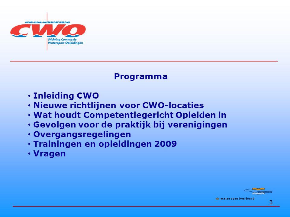 Nieuwe richtlijnen voor CWO-locaties