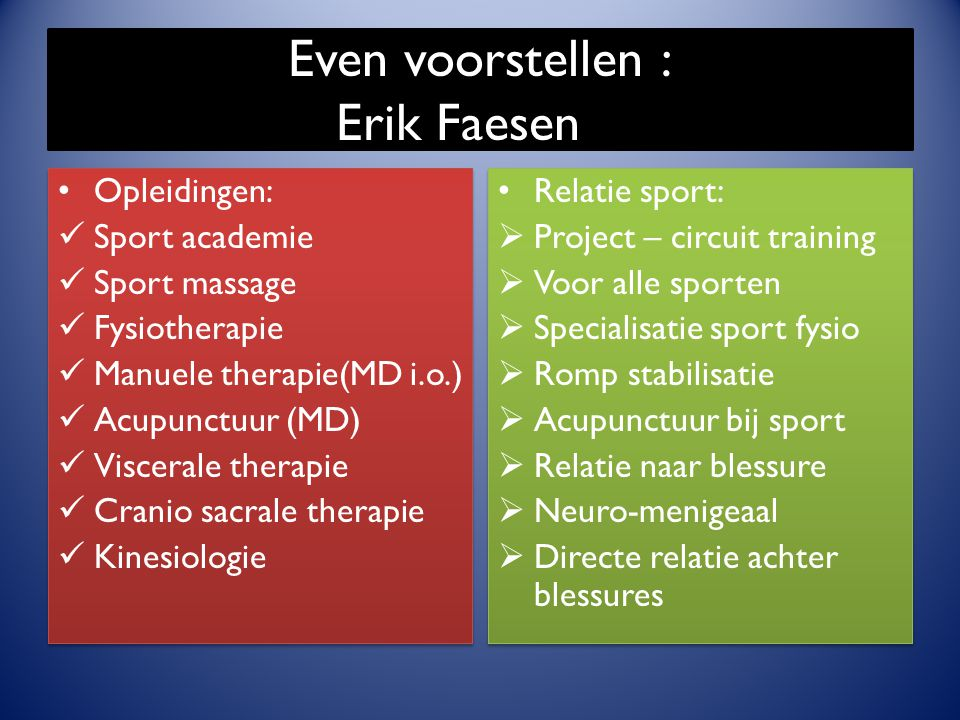 Even voorstellen : Erik Faesen