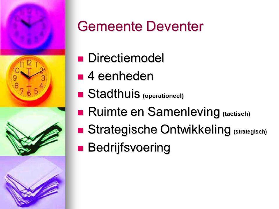 Gemeente Deventer Directiemodel 4 eenheden Stadthuis (operationeel)