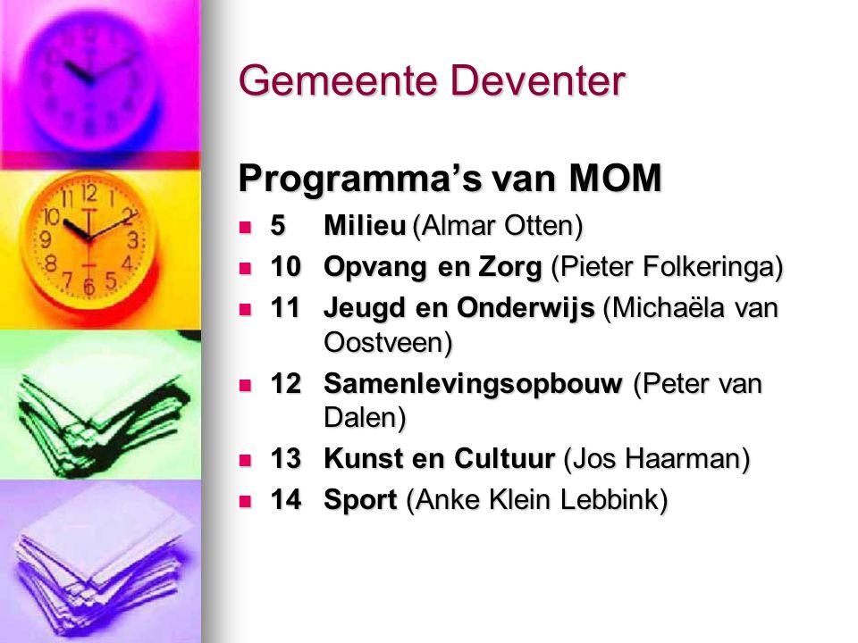Gemeente Deventer Programma's van MOM 5 Milieu (Almar Otten)