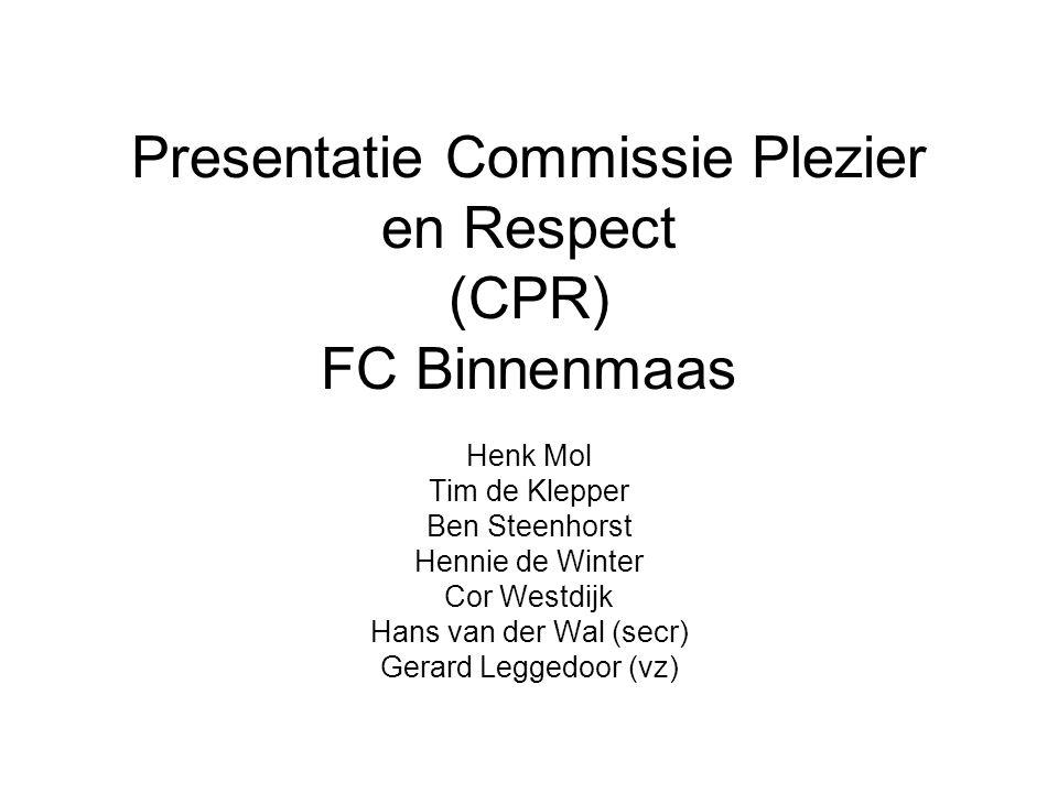 Presentatie Commissie Plezier en Respect (CPR) FC Binnenmaas
