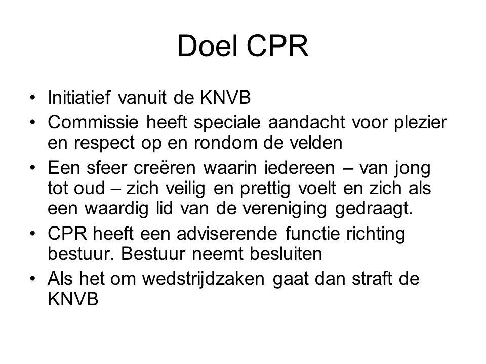 Doel CPR Initiatief vanuit de KNVB