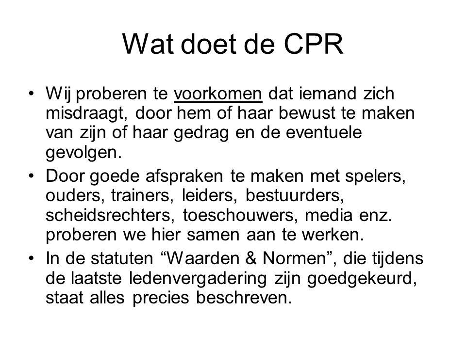 Wat doet de CPR