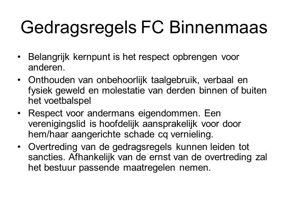 Gedragsregels FC Binnenmaas