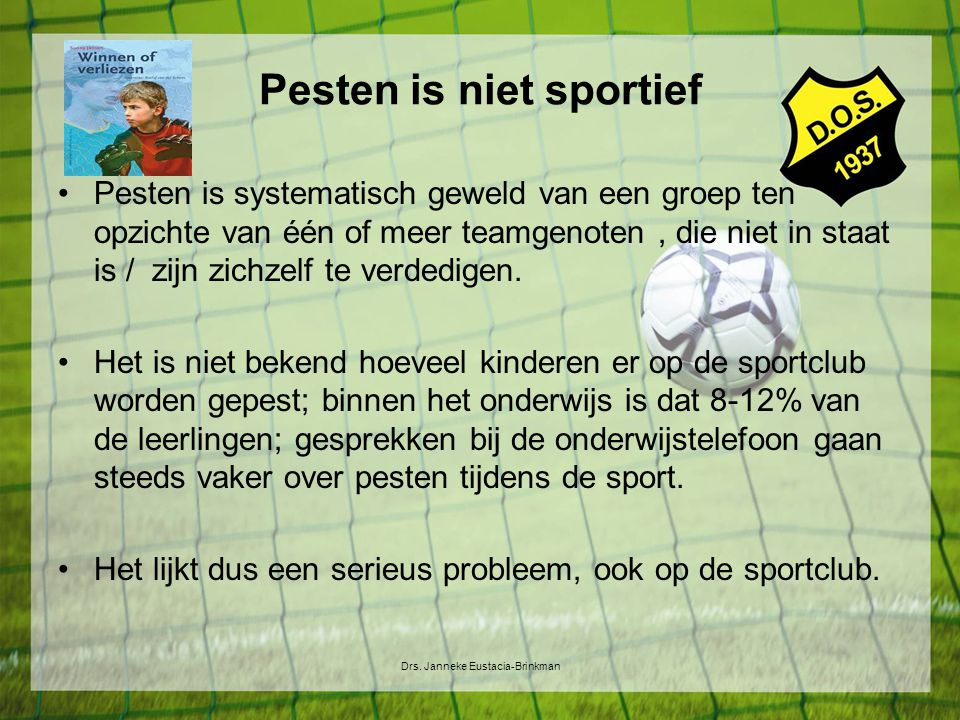 Pesten is niet sportief