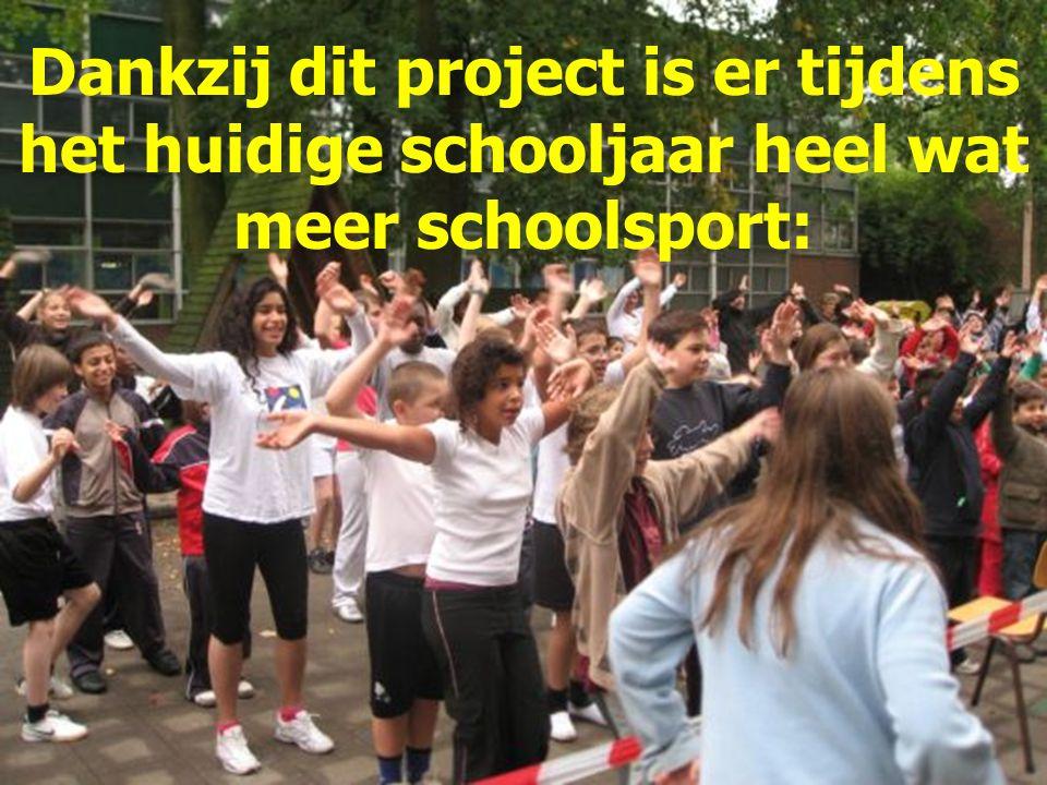 Dankzij dit project is er tijdens het huidige schooljaar heel wat meer schoolsport: