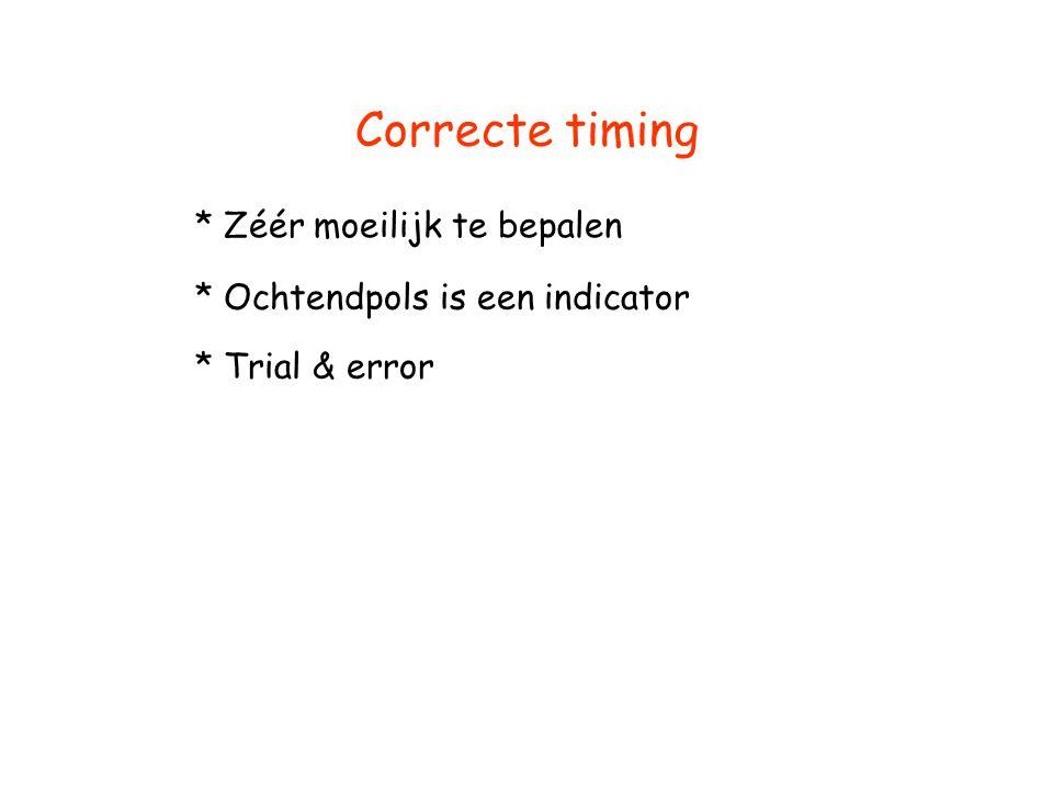 Correcte timing * Zéér moeilijk te bepalen