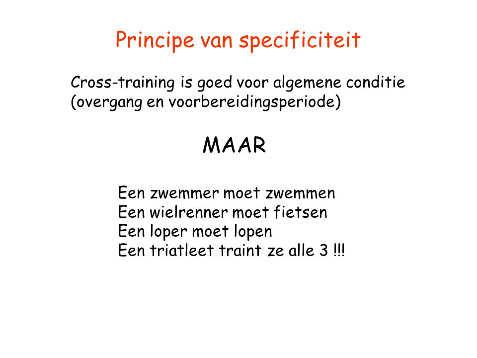 Principe van specificiteit