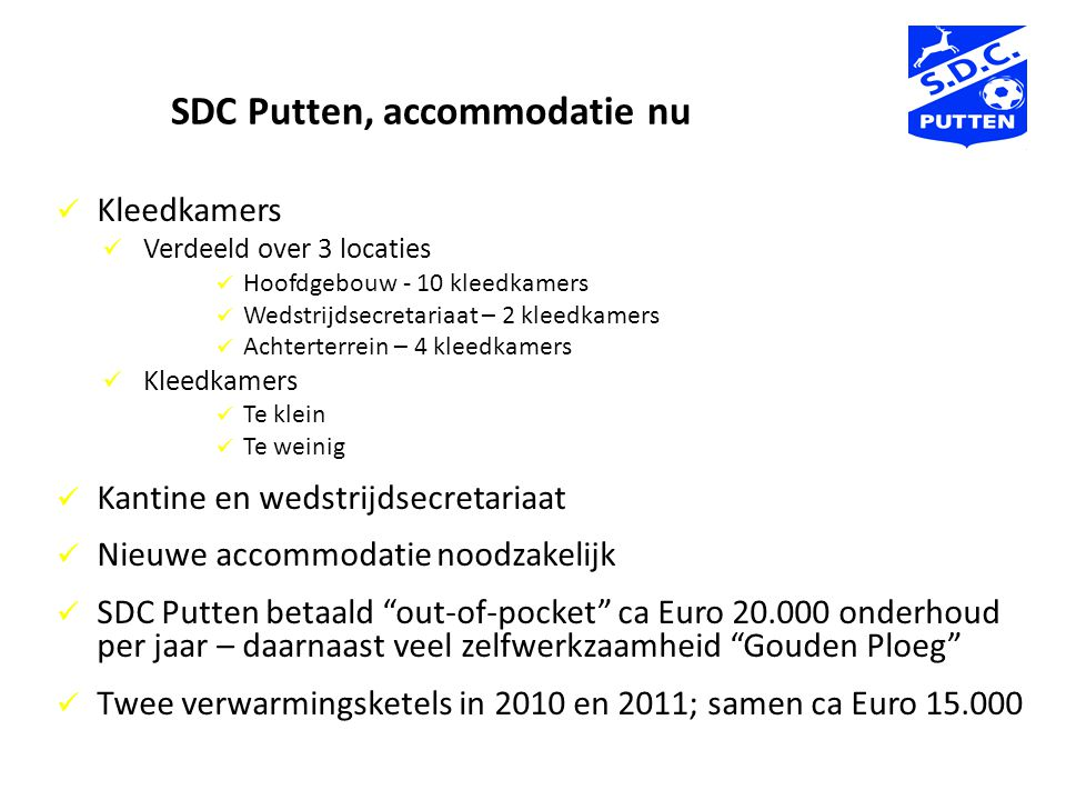 SDC Putten, accommodatie nu