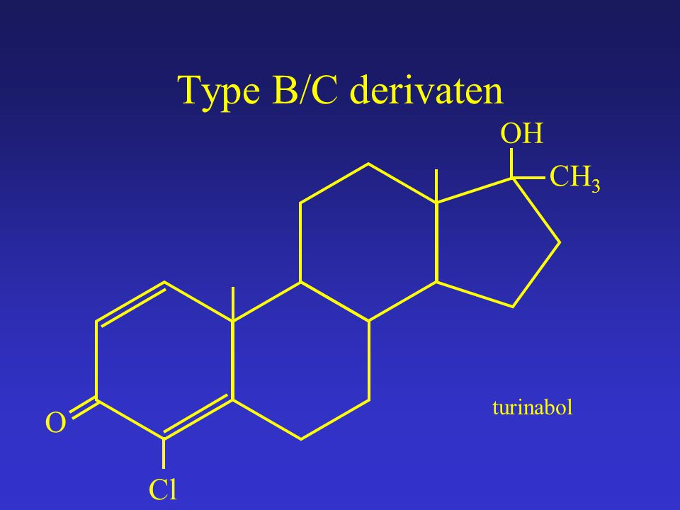 Type B/C derivaten OH CH3 turinabol O Cl