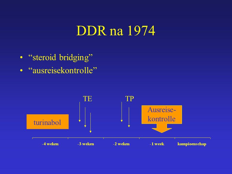 DDR na 1974 steroid bridging ausreisekontrolle TE TP