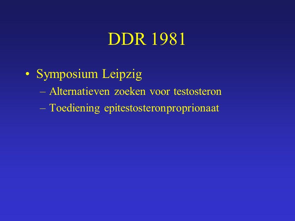 DDR 1981 Symposium Leipzig Alternatieven zoeken voor testosteron