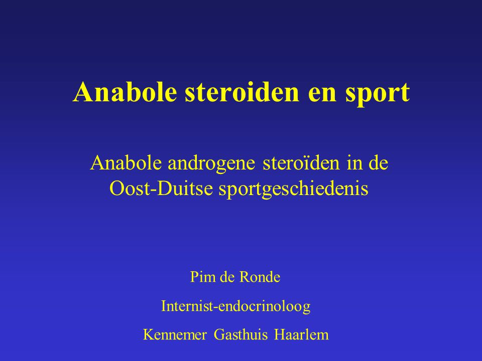 Anabole steroiden en sport