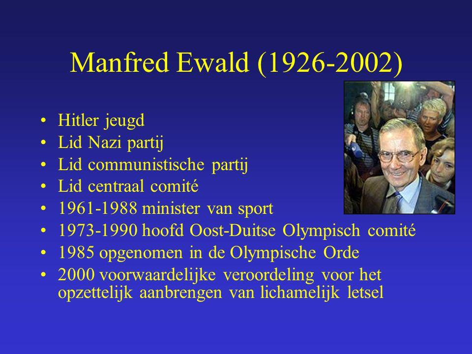 Manfred Ewald (1926-2002) Hitler jeugd Lid Nazi partij