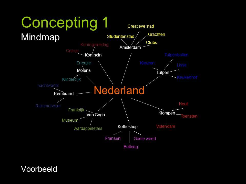 Concepting 1 Mindmap Nederland Voorbeeld Creatieve stad Grachten