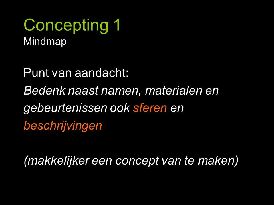 Concepting 1 Mindmap Punt van aandacht: