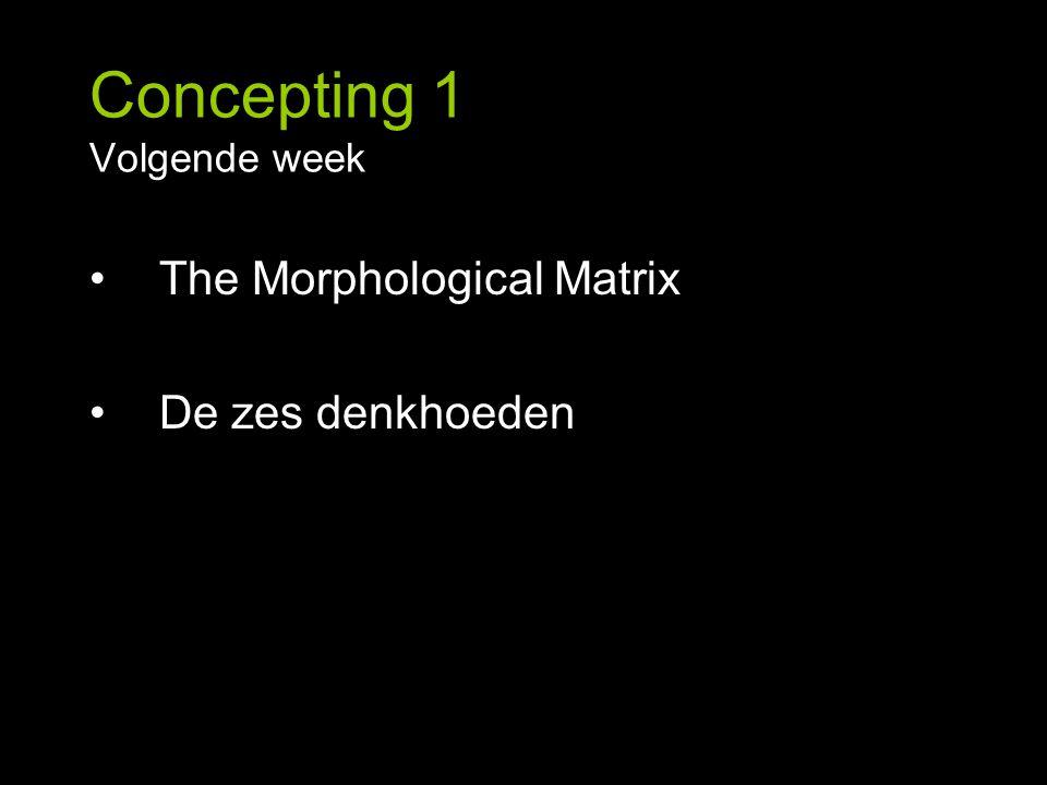 Concepting 1 Volgende week