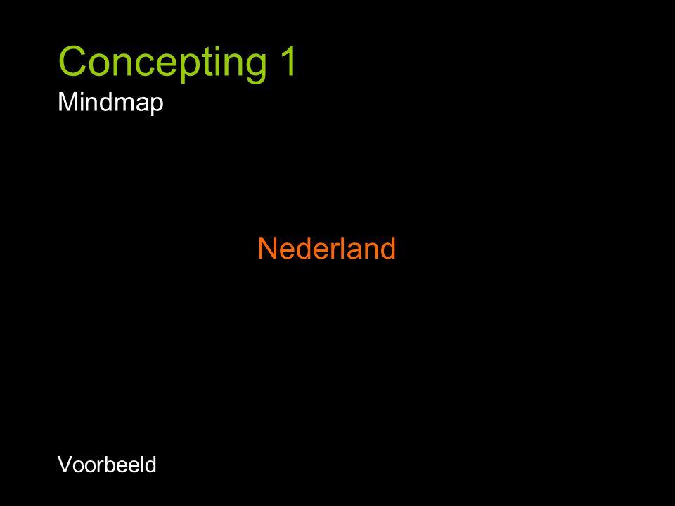 Concepting 1 Mindmap Voorbeeld Nederland