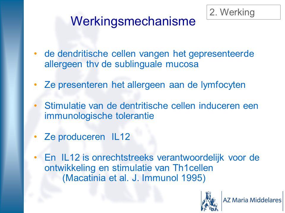 Werkingsmechanisme 2. Werking