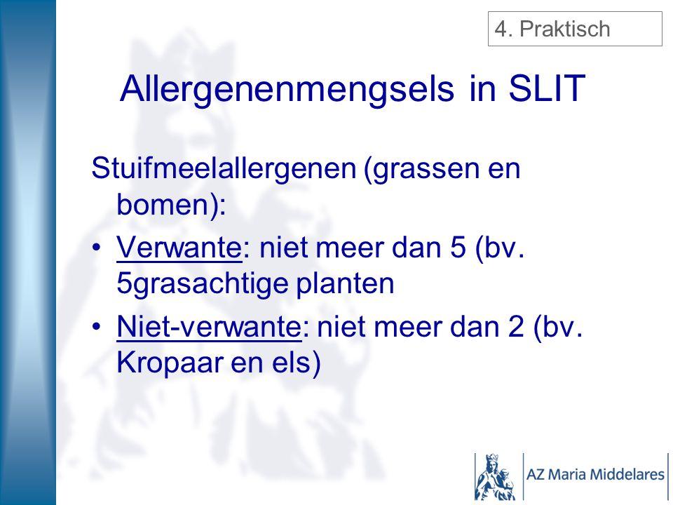 Allergenenmengsels in SLIT