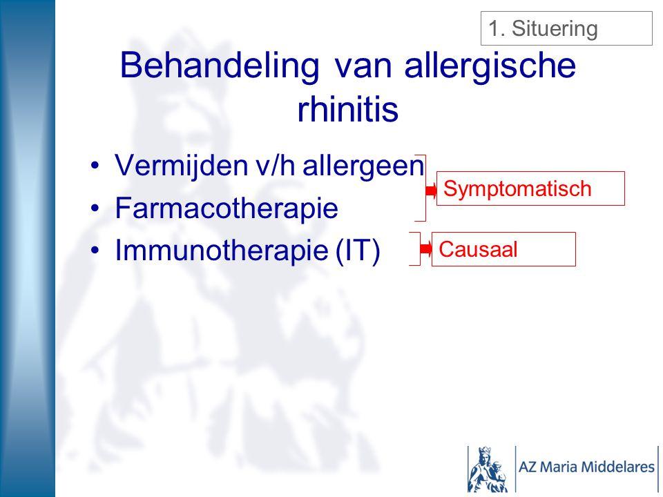 Behandeling van allergische rhinitis