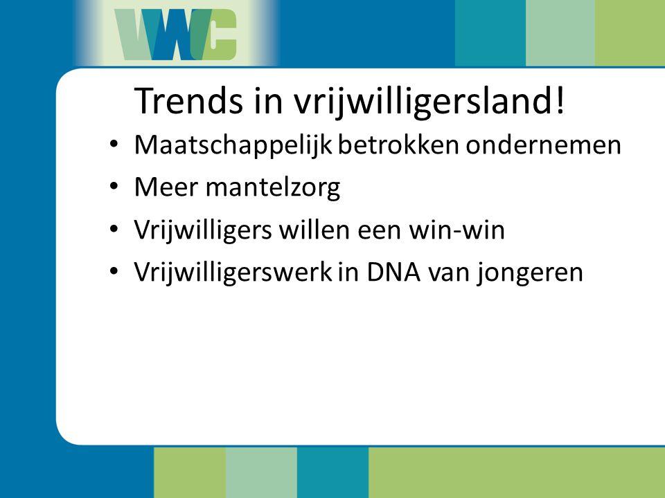 Trends in vrijwilligersland!