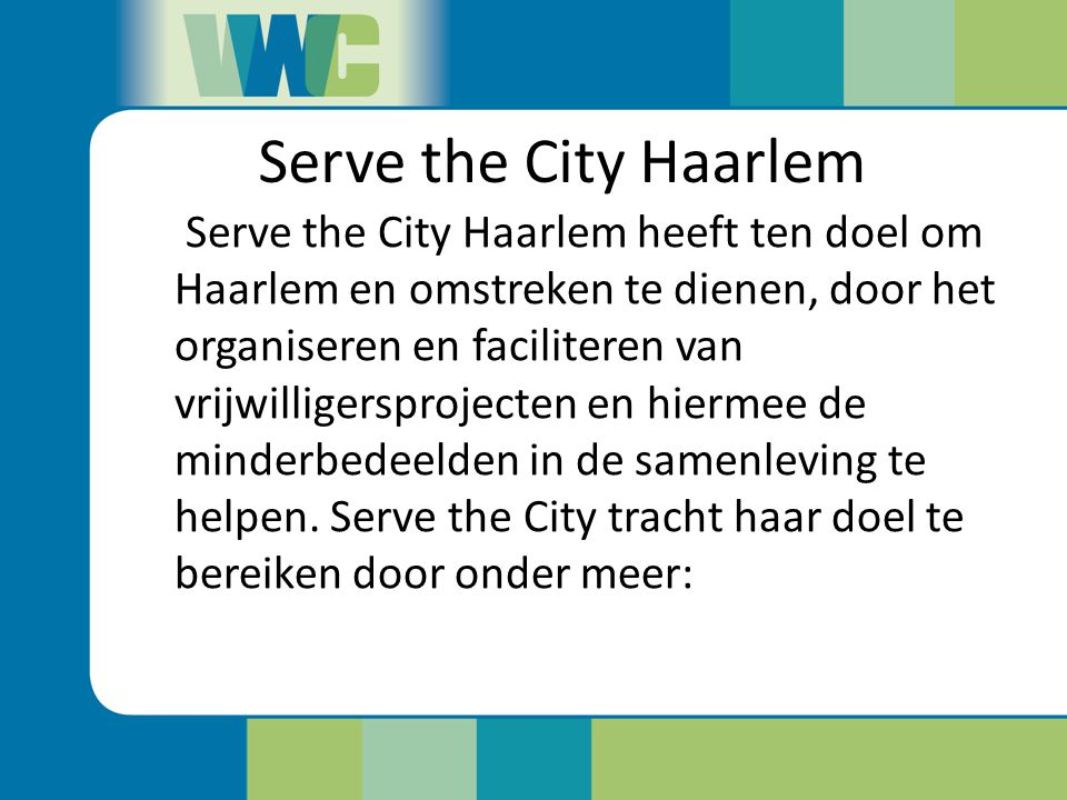 Serve the City Haarlem