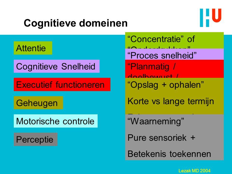 Cognitieve domeinen Concentratie of Onderdrukken