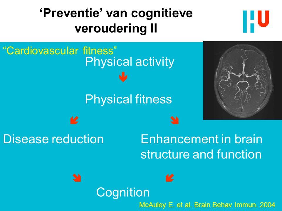 'Preventie' van cognitieve veroudering II