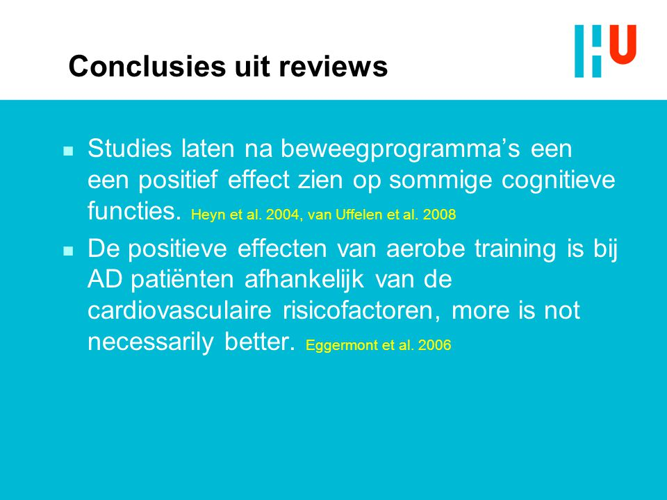 Conclusies uit reviews