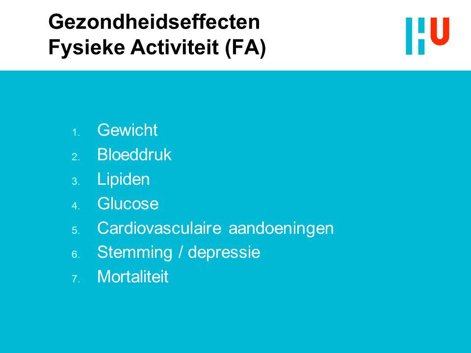 Gezondheidseffecten Fysieke Activiteit (FA)