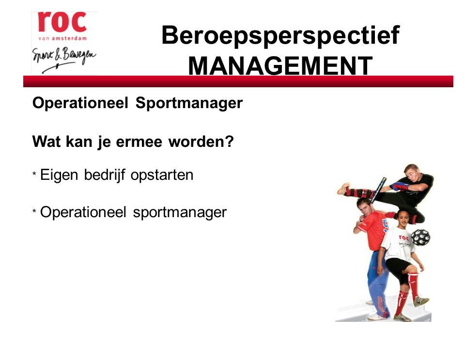 Beroepsperspectief MANAGEMENT