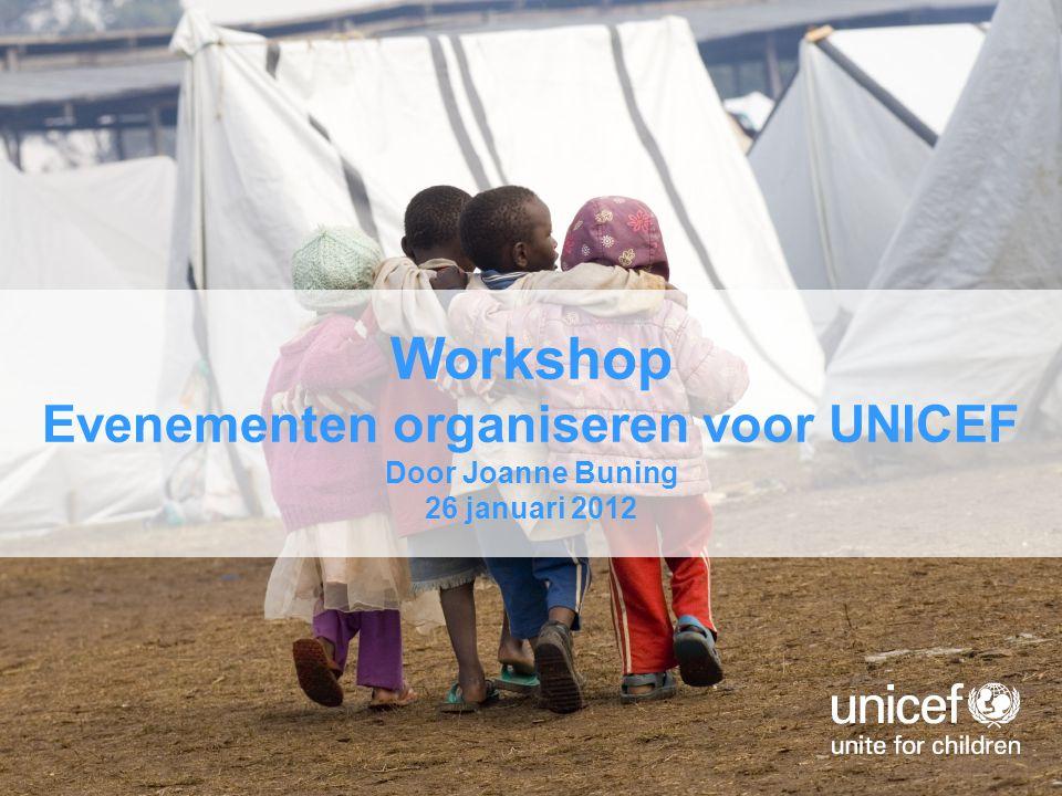Evenementen organiseren voor UNICEF