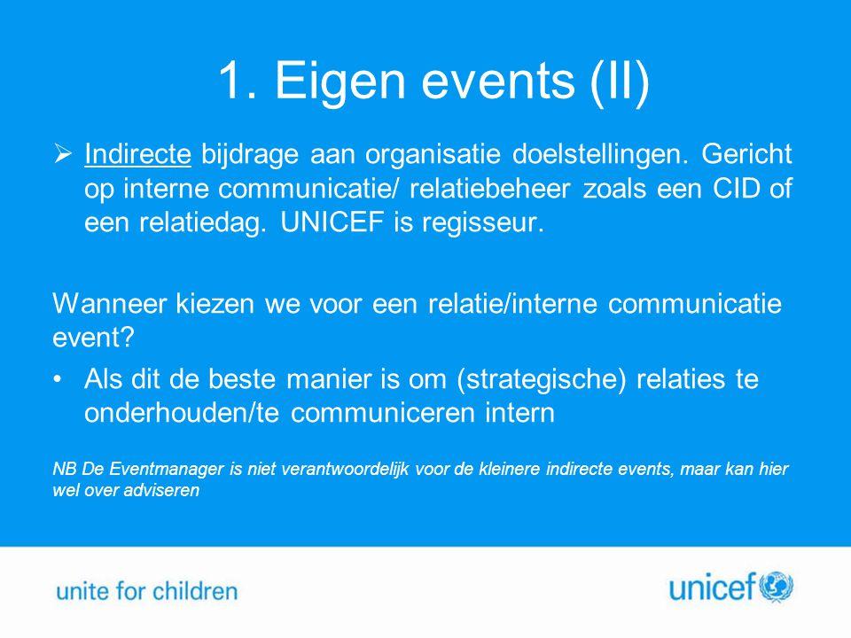 1. Eigen events (II)