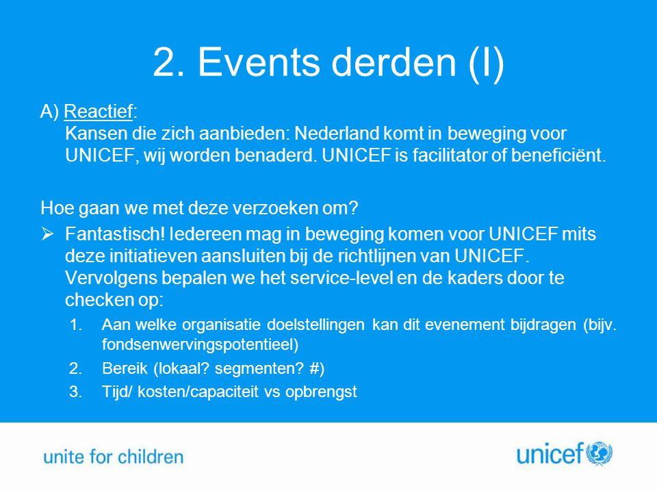 2. Events derden (I)