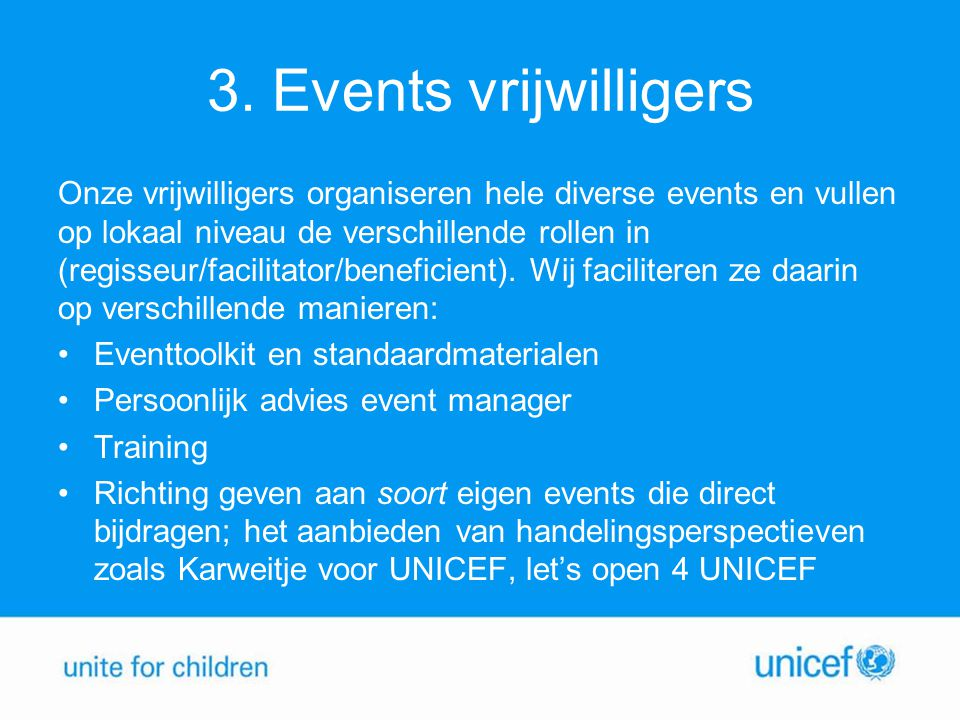 3. Events vrijwilligers