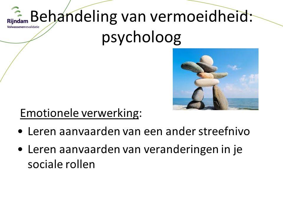 Behandeling van vermoeidheid: psycholoog