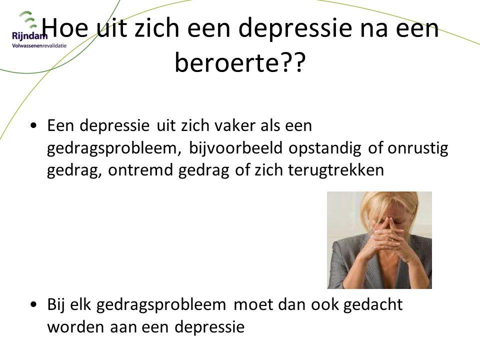 Hoe uit zich een depressie na een beroerte