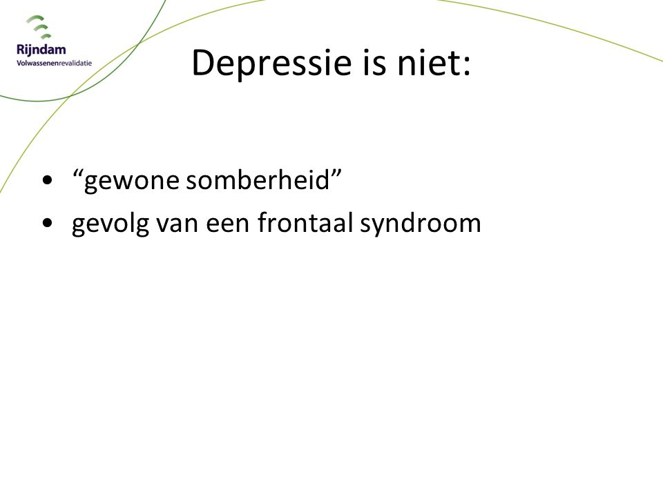 Depressie is niet: gewone somberheid